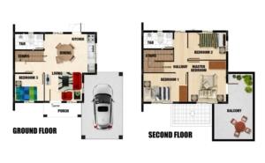 Carina Floor Plan - Camella Homes Provence Malolos Bulacan