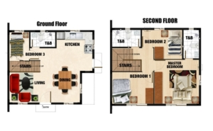 Drina Floor Plan - Camella Homes bulacan
