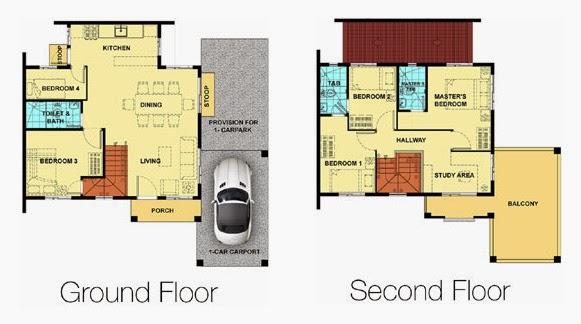Fatima model camella provence for Camella homes design with floor plan