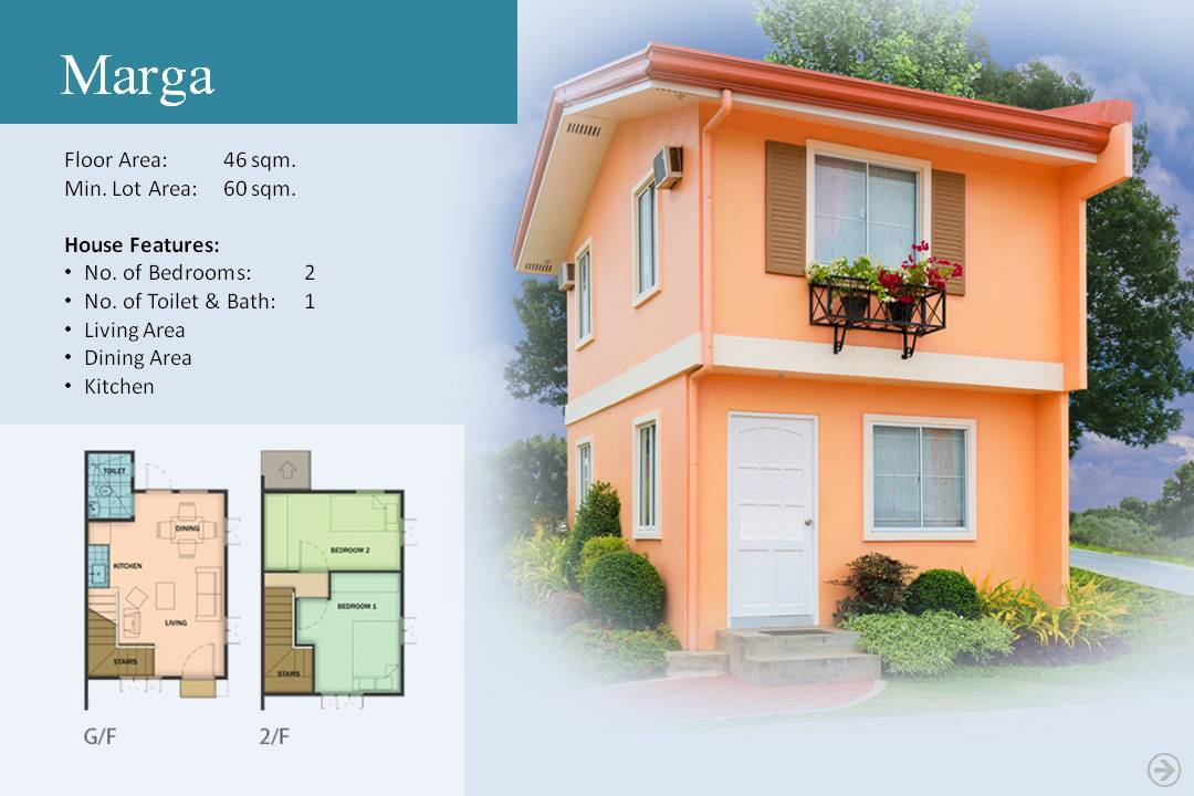 Marga model camella bulakan for Camella homes design with floor plan