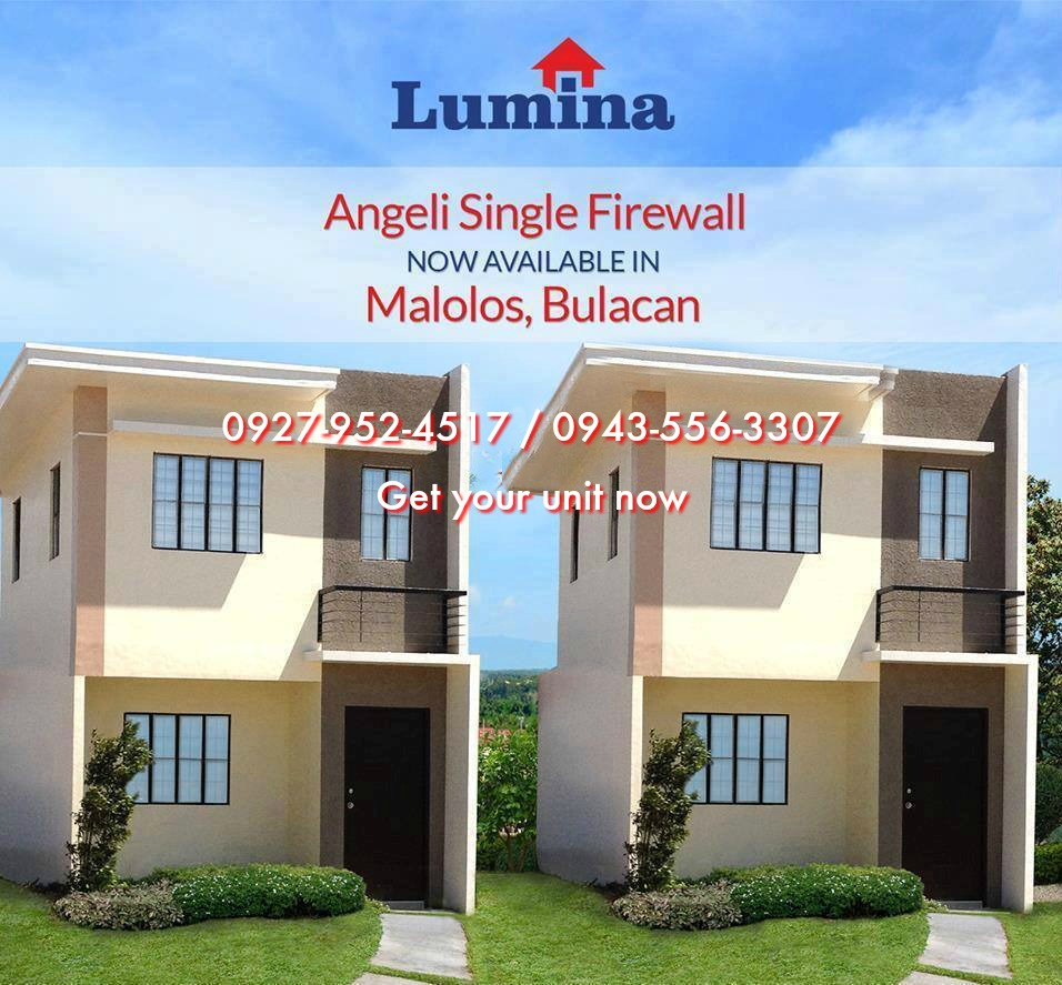 Angeli lumina malolos house and lot for sale in malolos for Camella homes design with floor plan