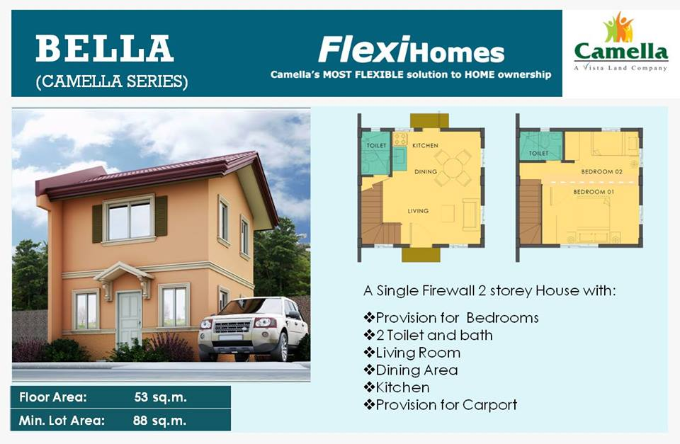 New Camella Homes Model – Bella