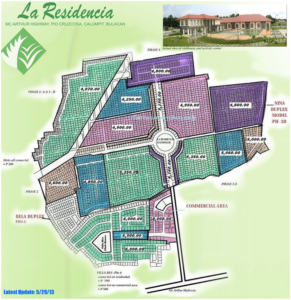 La residencia Site development plan