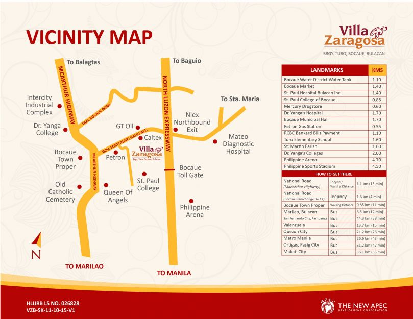 Villa Zaragosa Vicinity Map