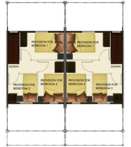 Bria Sta. Maria - Angeli Duplex Floor Plan Second Floor